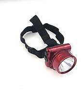 Фонарь налобный  аккумуляторный 1W LED YJ-1829-1, фото 3