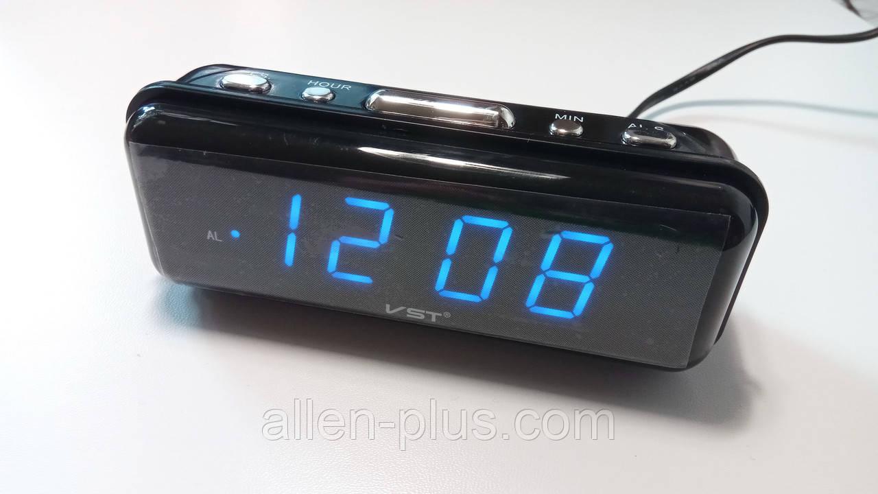 Часы сетевые VST 738-5, синие