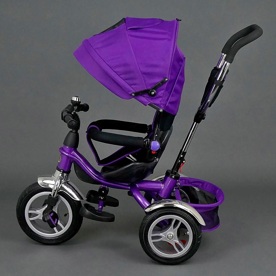 Детский трехколесный велосипед, фиолетовый