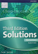 Solutions Third Edition Elementary Student's Book / Учебник