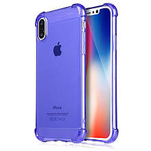 Силиконовый чехол X-Level Crashproof for iPhone X Blue