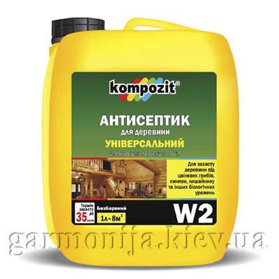 Антисептик универсальный W2 Kompozit, фото 2