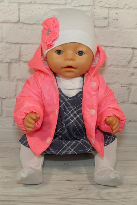 Комплект с курткой и джинсовым сарафаном (43 см) для куклы Baby Born