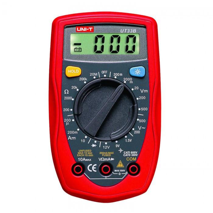 Цифровой мультиметр UNI-T UT33B тестер