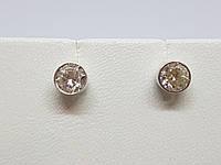 Серебряные пуссеты с фианитами. Артикул 902-00611, фото 1