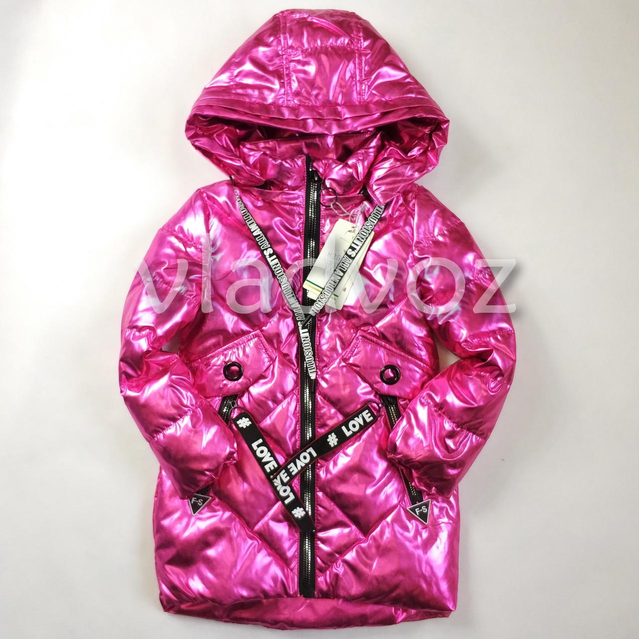 95bf893d609b Детская демисезонная куртка пальто для девочки малиновая 9-10 лет - Bigl.ua