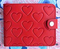Элегантное портмоне-кошелек №3 с отделением для фото узор Сердца, фото 1