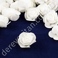 Розы из фоамирана, белые, 3.5 см, 25 шт.