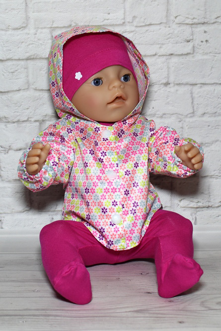 Комплект с ветровкой Мозаика  для куклы Baby Born
