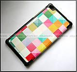 Цветные кубики (Color Blocks) чехол книжка Lenovo Tab 4 7.0 Tb-7504X в эко коже и магнитами, фото 5