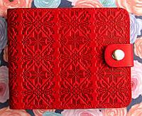 Дизайнерский кошелек №3 Украинский узор с отделением для фото
