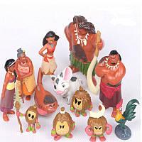 Фигурки с мультфильма Моана (Ваяна), игрушки Moana Disney, 12 шт