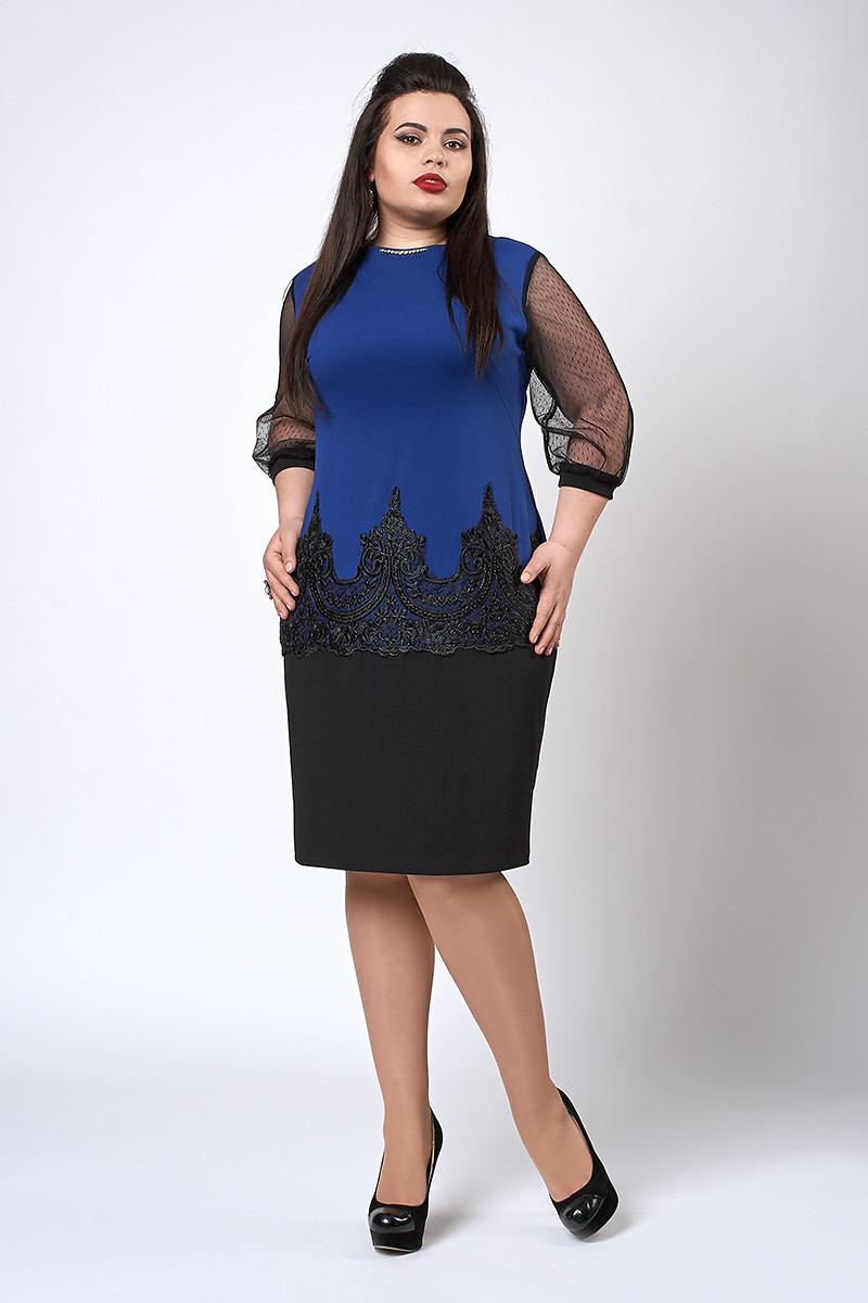 Сукня жіноча модель №558-2, розміри 48-50 електрик