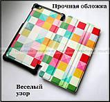 Цветные кубики (Color Blocks) чехол книжка Lenovo Tab 4 7.0 Tb-7504X в эко коже и магнитами, фото 3