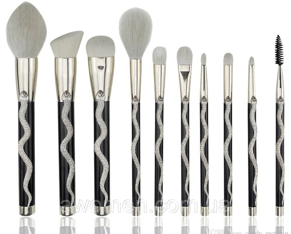 Набор кистей Coshine Cosmetics Silver Series (10 штук)