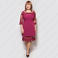 Женское платье большого размера коктейльное