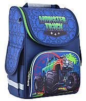 Рюкзак каркасний ортопедичний для хлопчика PG-11 Monster truck, 31*26*14 SMART