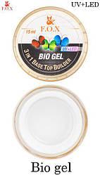 Прозорий біо-гель F. O. X Bio gel (3 in 1 Base/Top/Builder)