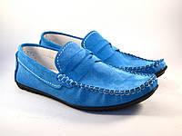Большой размер летние мужские мокасины замшевые голубые Rosso Avangard SE Alberto M4 Blu BS, фото 1