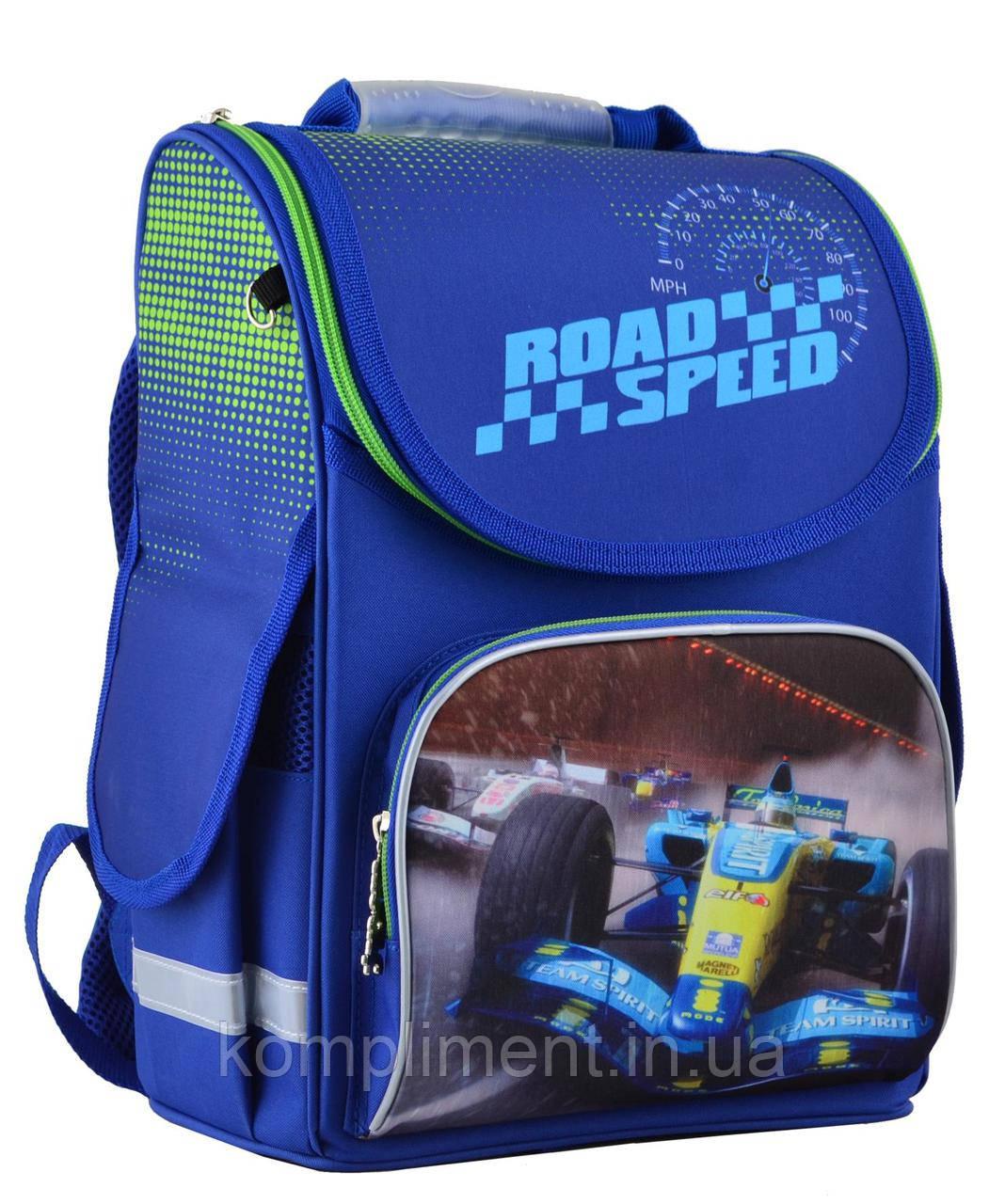 Рюкзак каркасный ортопедический  для мальчика PG-11 Road speed,  31*26*14  SMART