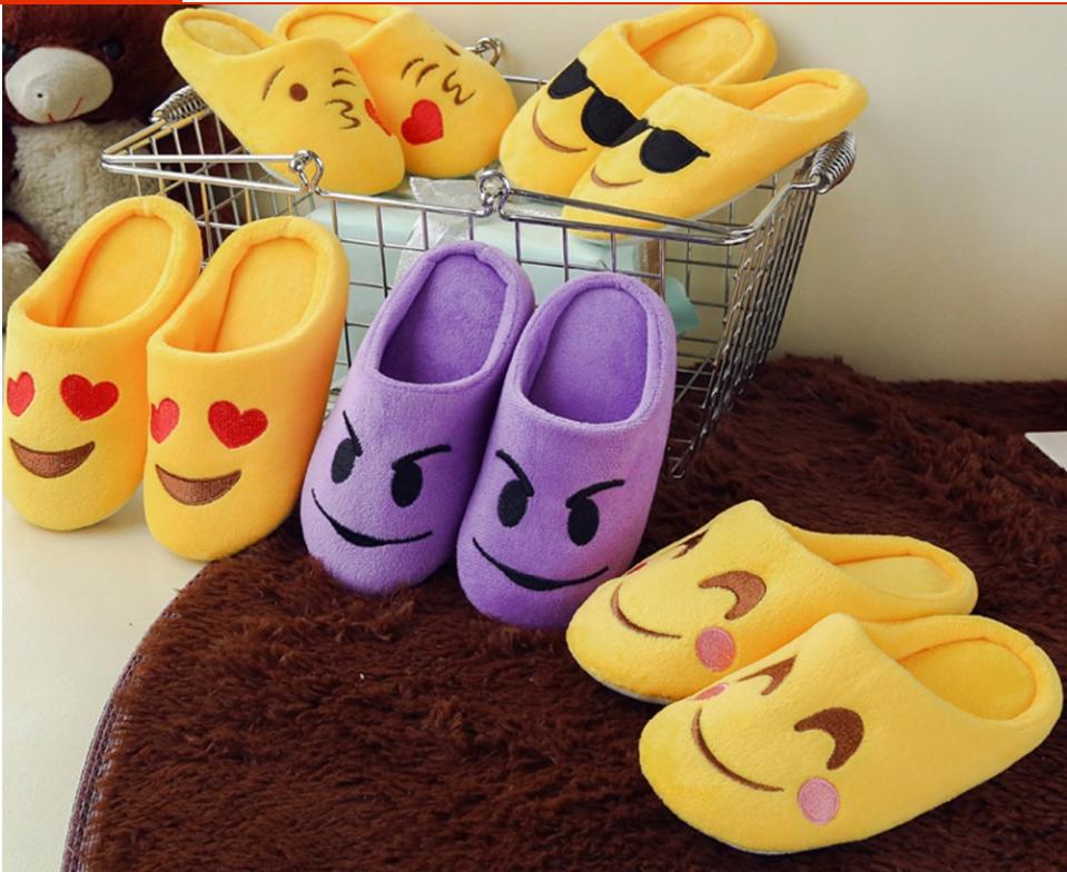 Тапочки детские смайлики разные модели Emoji смай