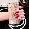 "LG V35 ThinQ оригинальный чехол накладка бампер панель со стразами камнями на телефон ""PEARL DIMOND"", фото 9"