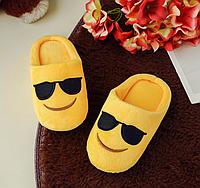 Тапочки детские смайлики в очках Emoji смай , фото 1