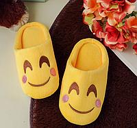 Тапочки детские смайлики застенчивая улыбка Emoji смай , фото 1