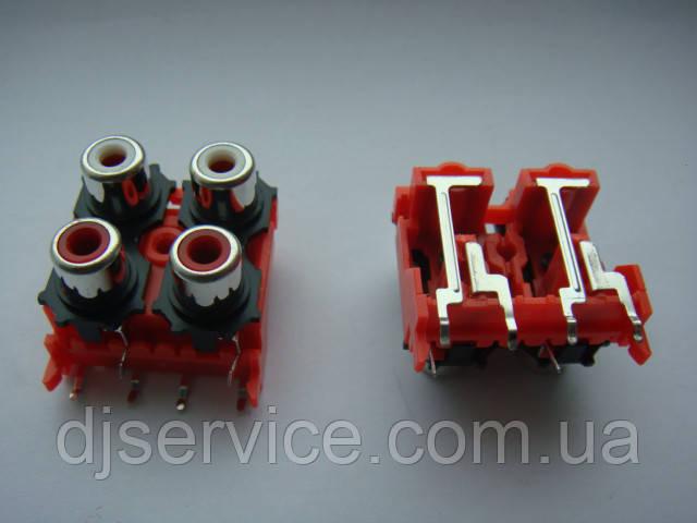 Разьем DKB1083, AL4977  RCA (тюльпаны) для djm500, 600, 700, 750, 850, 900, 2000