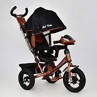 Велосипед 3-х колёс. 7700 В - 6670 /БРОНЗОВЫЙ/ Best Trike (1) ПОВОРОТНОЕ СИДЕНЬЕ, НАДУВНЫЕ КОЛЕСА переднее колесо d=29см. задние d=26см
