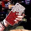 "LG V40 / V40 ThinQ оригинальный чехол накладка бампер панель со стразами камнями на телефон ""LUXURY ROCK"", фото 3"