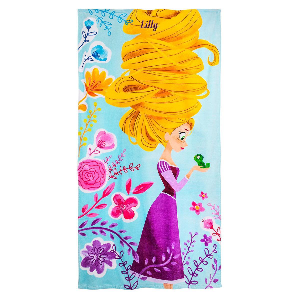 Детское махровое полотенце Дисней Рапунцель Rapunzel Beach Towel