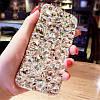 "LG G7 ThinQ оригинальный чехол накладка бампер панель со стразами камнями на телефон ""LUXURY ROCK white"", фото 4"