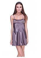 Атласная ночная сорочка с кружевной отделкой Серенада(Serenade) 902