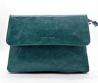 Стильная сумка-клатч женская Pretty woman бирюзового цвета на плечо PRT-782396 (большая)