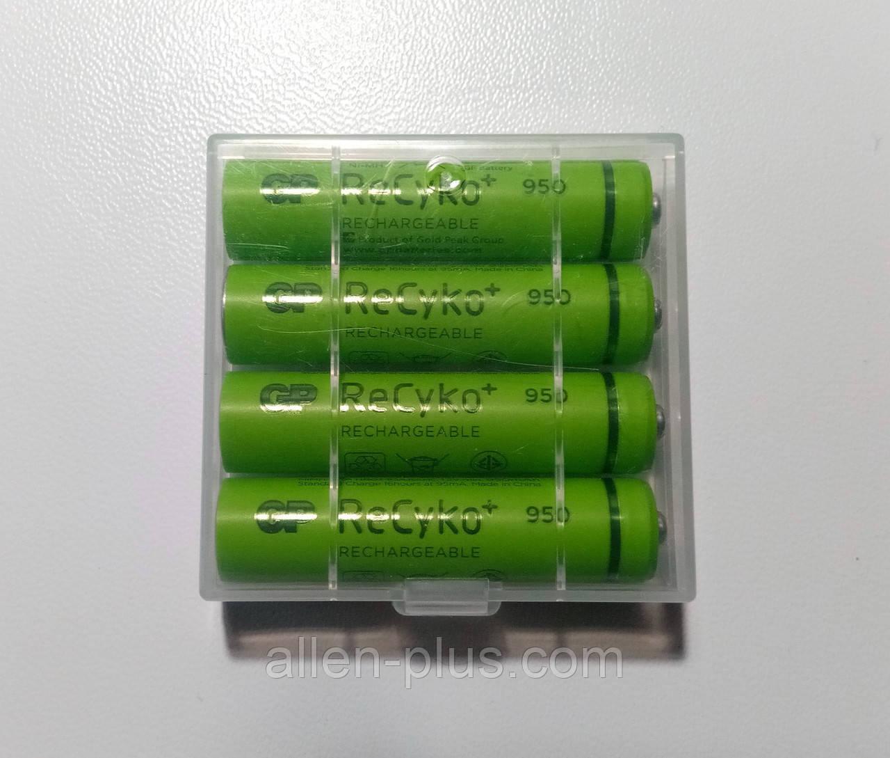 Комплект аккумуляторов (4 шт) GP Green Generation ReCyko+ АAА 1.2V 950mAh Ni-MH
