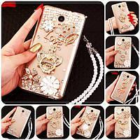 """XIAOMI Mi 8 lite оригинальный чехол накладка бампер панель со стразами камнями на телефон """"ROYALER"""""""