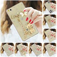 """XIAOMI Mi 8 lite оригинальный чехол накладка бампер панель со стразами камнями на телефон """"PARIS STYLE"""""""
