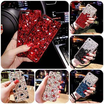 """XIAOMI Redmi 7 оригинальный чехол накладка бампер панель со стразами камнями на телефон """"LUXURY ROCK"""""""