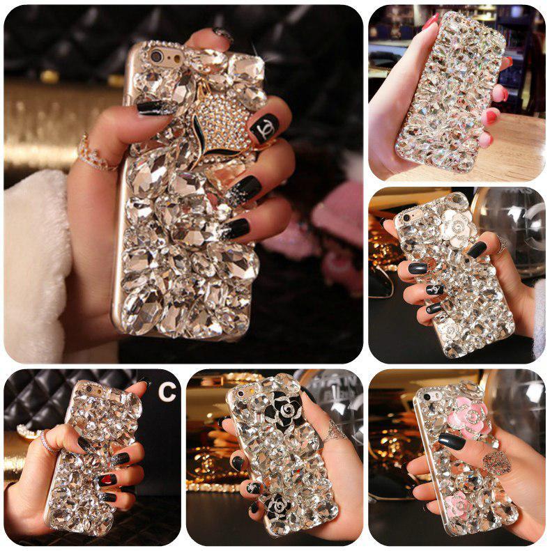 "LG G7 ThinQ оригинальный чехол накладка бампер панель со стразами камнями на телефон ""LUXURY ROCK white"""