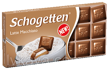 Молочный шоколад  Schogetten Latte-Macchiato,100 гр, фото 2