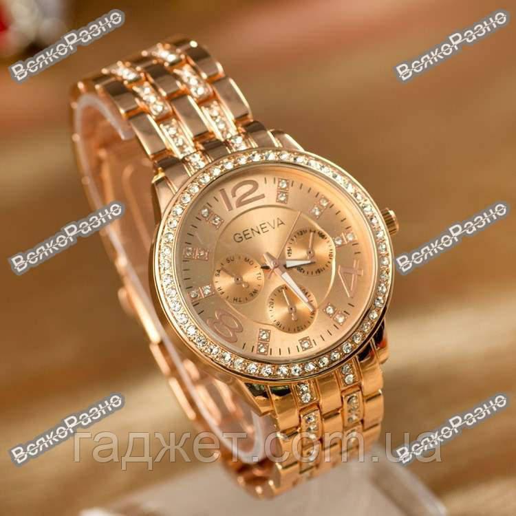 Женские часы Geneva Rose Gold. Женские часы.