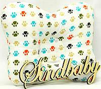 """Подушка для новорожденных с ортопедическими свойствами """"Лапки"""""""