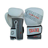 Перчатки боксерские Excalibur 529-05 Thunder (10 oz) белый/серый