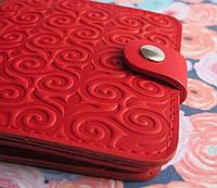 Брендовый кошелёк из натуральной кожи портмоне №3 узор Завиток , фото 1