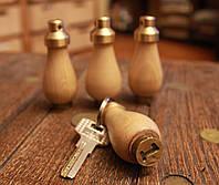 """Номерок для ключей, брелок деревянный """"Груша"""", фото 1"""