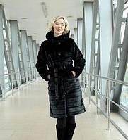 Шуба черная поперечная, фото 1