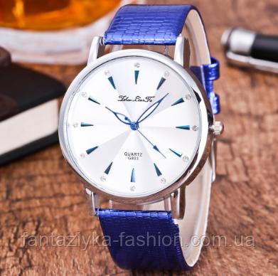Наручные часы женские с синим ремешком