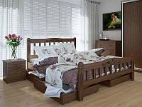 Кровать MeblikOff Луизиана Люкс с ящиками (180*200) дуб