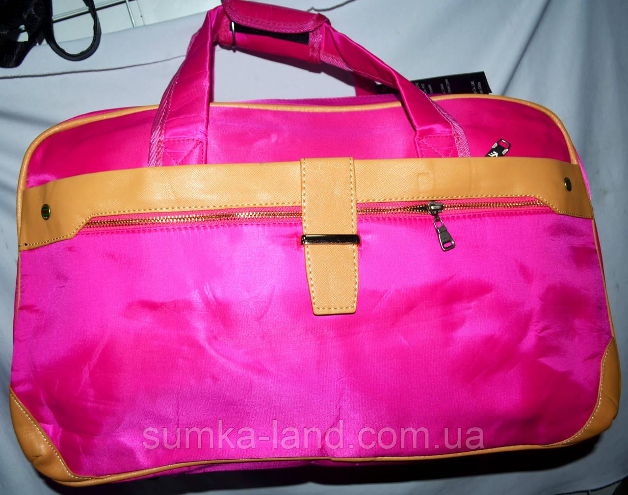 851d2411f471 Женская розовая дорожная сумка из плащевки 50*30 см: продажа, цена в ...